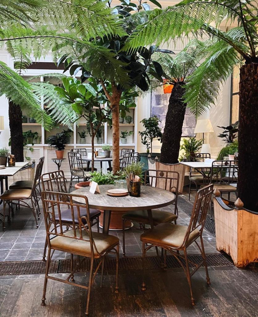 Italian restaurant Petersham Nurseries Covent Garden, London