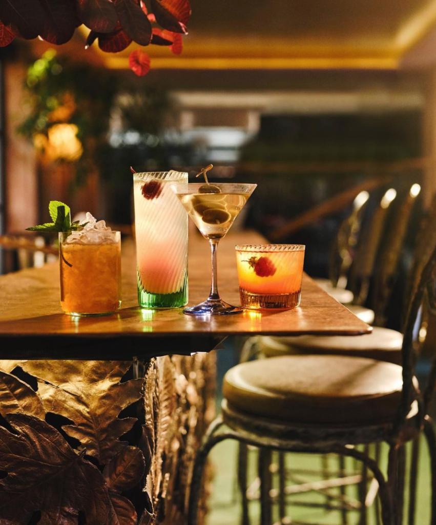 cocktails from Petersham Nurseries, Covent Garden, London